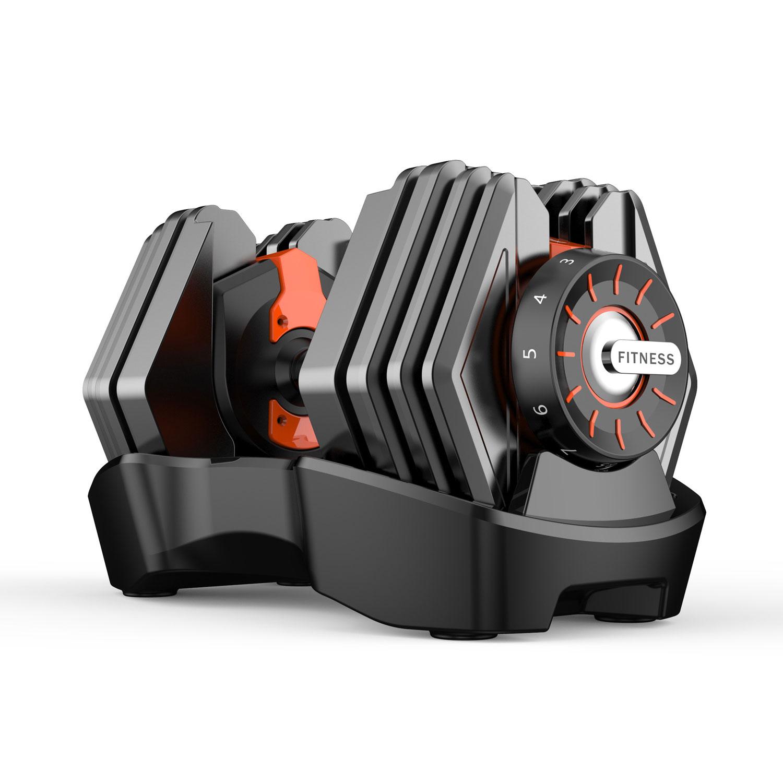 15kg 可调节哑铃 快速自动智能哑铃健身器材套装