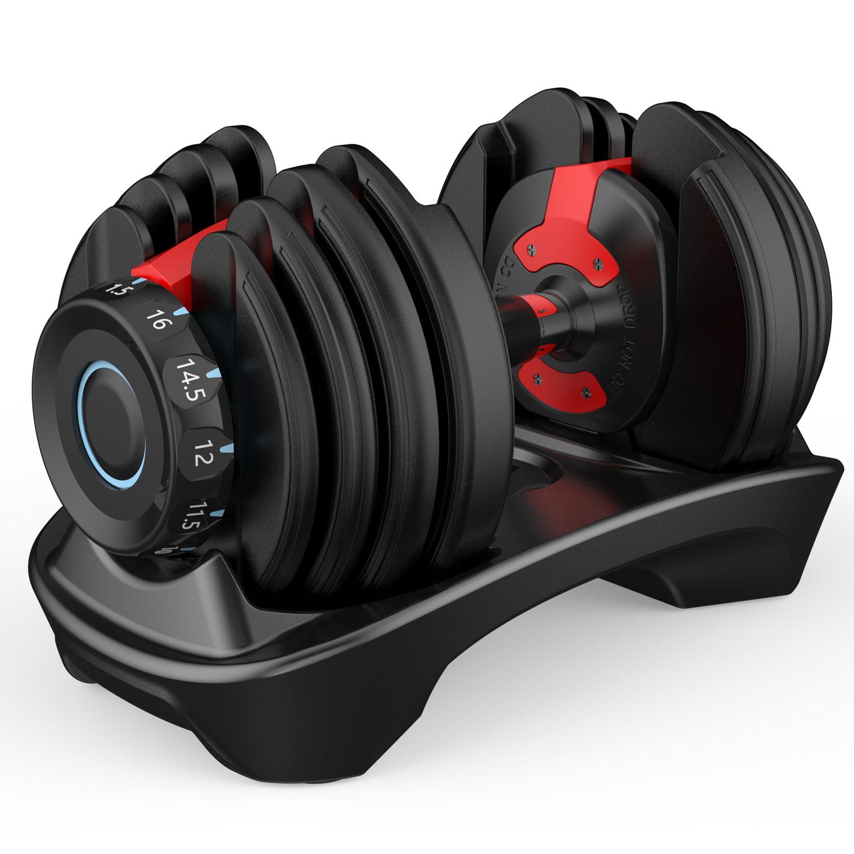 16kg 可调节哑铃 快速自动智能哑铃健身器材套装